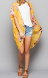 At The Resort Floral Kimono - Yellow