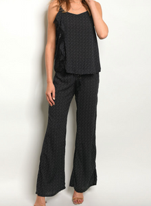 Mishka Black Top and Pants Set