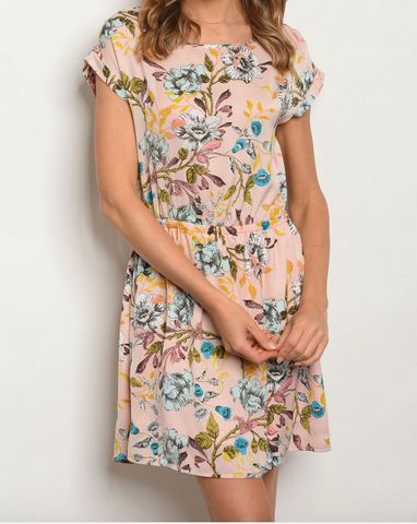Piper Floral Blush Dress