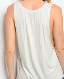 Liam Boyfriend Tank Top - Ash Gray