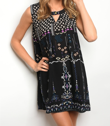 One Day Keyhole Dress - Black