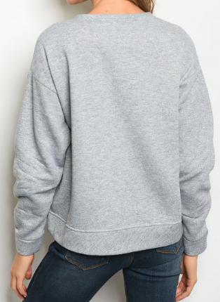 Silver Lining Sweater- Gray