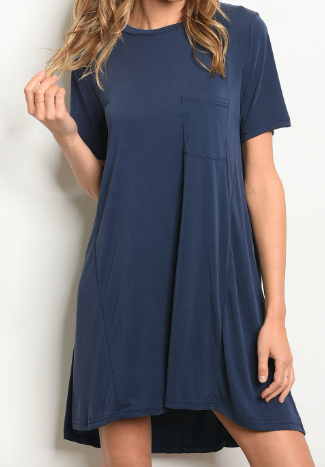 Fine By Me Dress - Navy