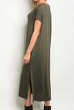Make It Sweet Long Dress - Olive
