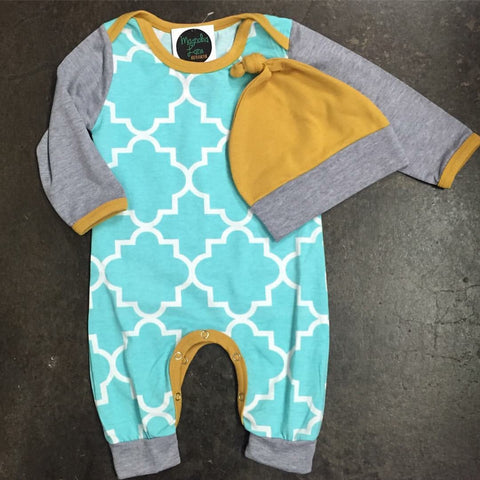 Unisex Aqua Yellow Set