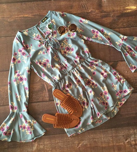 French Floral Romper