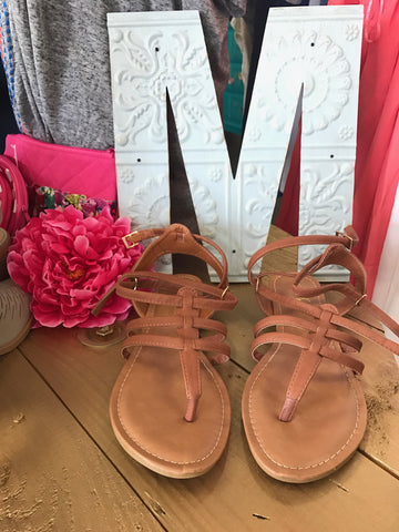 Strappy Sandals Brown