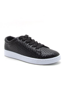 Mentor Lace Up Waffle Sneakers Black