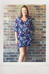 Floral High Low Tunic