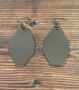 Handcrafted Geo Cocoa Earrings