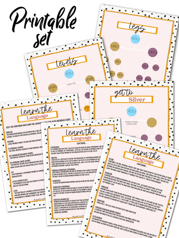 Business Starter Set Printables - Young Living
