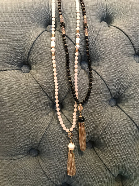 Tassel Glass Beaded Necklaces