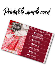 Christmas Sample Card Printable - Young Living