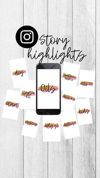 Instagram Story Highlight Set - Oils