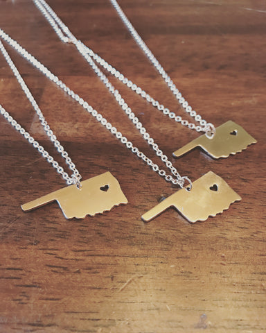 Oklahoma Shape Necklaces