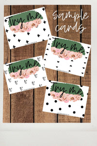 Sample Card Printable Set
