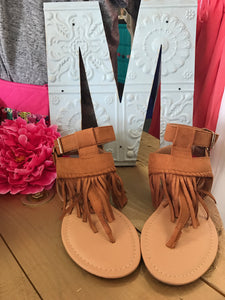 Whiskey Brown Double Sandals