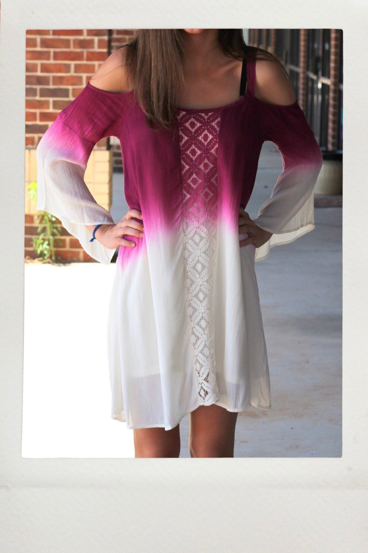 Berry Cream Boho Dress