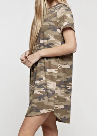 Crushin' On Camo Dress