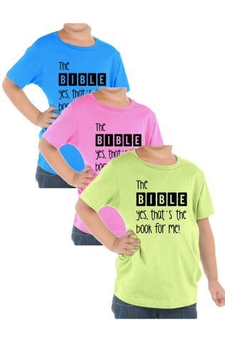 B-I-B-L-E Tees (Lime, Pink, Blue) - Twin Rivers Clothing Co.
