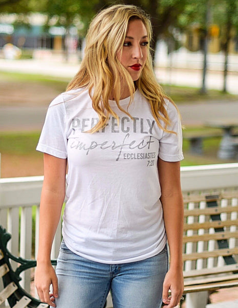 Perfectly Imperfect Tee (White, Charcoal, Berry, Purple, Mint)