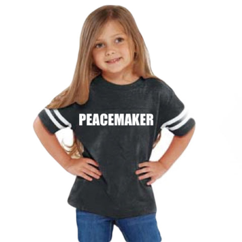 """Peacemaker"" Kids Tee/Infant Bodysuit - Twin Rivers Clothing Co."