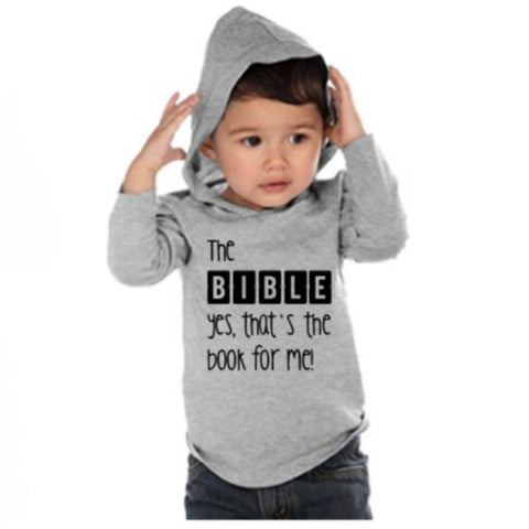 """The B-I-B-L-E"" Lightweight Long Sleeve Hooded T-Shirt - Twin Rivers Clothing Co."