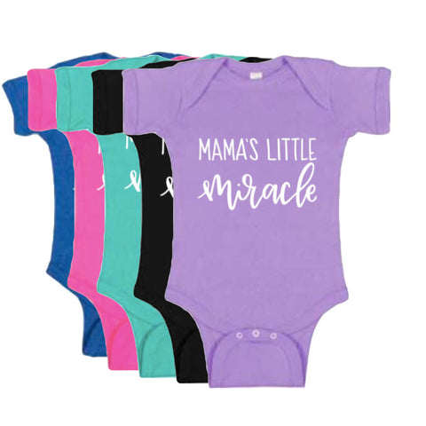 Mama's Little Miracle Bodysuit (5 colors) - Twin Rivers Clothing Co.