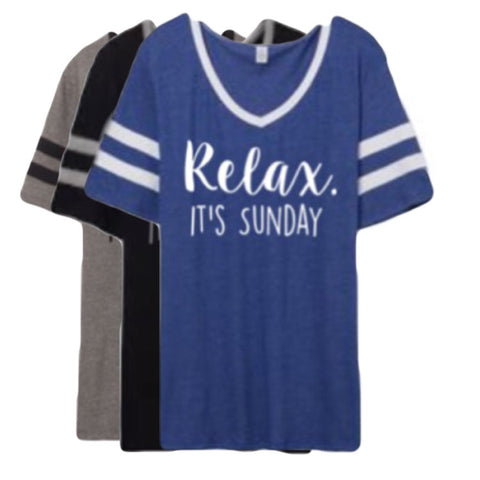 Relax. It's Sunday T-Shirt - Twin Rivers Clothing Co.