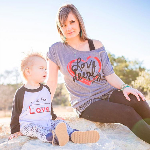L is for Love/Love Deeply - Mommy & Me Set - Twin Rivers Clothing Co.