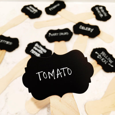 VEGETABLE GARDEN CHALK BOARD TAGS