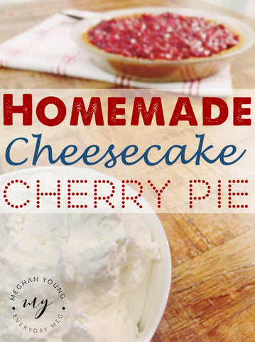 Homemade, Cheesecake, Cherry Pie