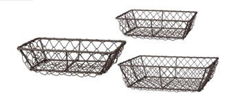 Chicken Wire Basket Set - Rectangle Nesting