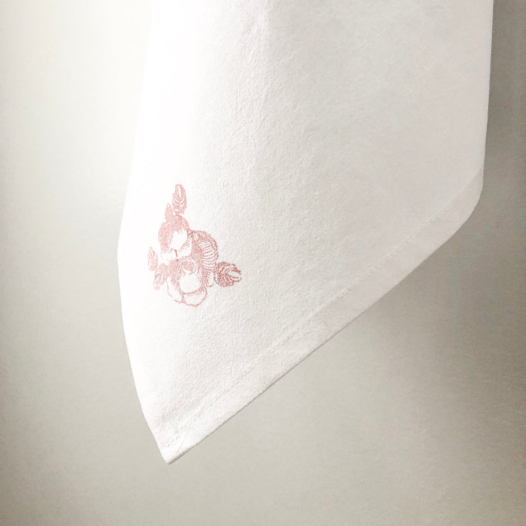 Flour Sack Towel - Vintage Rose - Small/Light Pink
