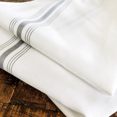 Farmhouse Bistro Napkin - Gray Stripe - Set of 4