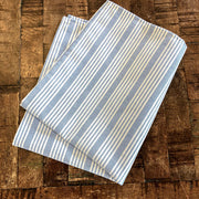 Chambray & White Stripe Bistro Napkin - Blue - Set of 4