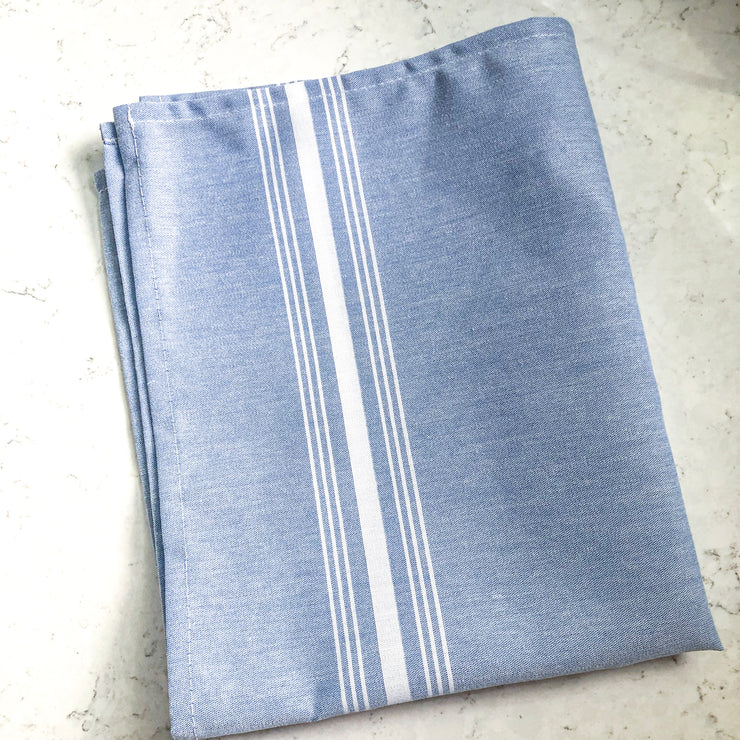 Chambray Farmhouse Stripe Bistro Napkin - Blue - Set of 4