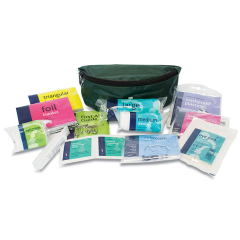 Playground First Aid Kit in Green Bum Bag