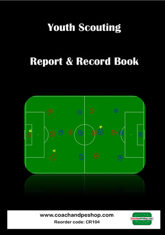 Yth Scouting Report & Record A5 Book 100x Games CR104