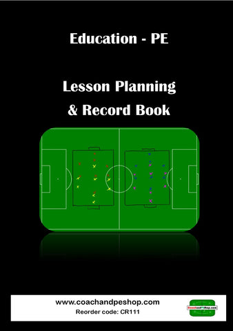 Education - PE Lesson Planning A5 Book 100 x Lessons CR111 FREE Multi-INK Pen