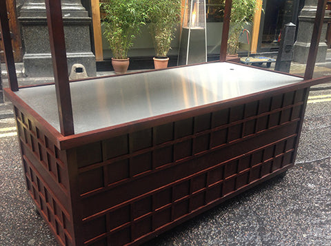Food Cart - Steel counter
