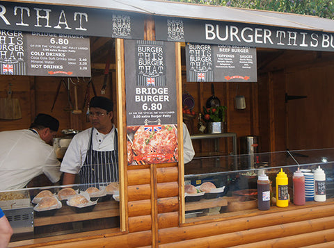Large Wooden Lockable Hut - Burgers