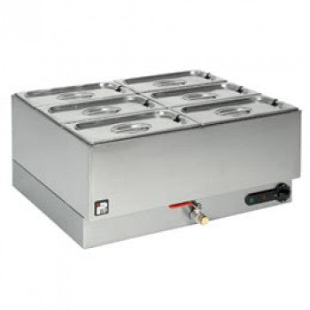 Parry 1985 Electric Double Wet Well Bain Marie 6 Pot