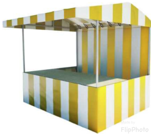 The Vincent 8' x 6' Food Market Stall