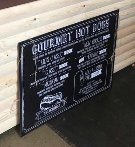 Large Wipeable Menu Board