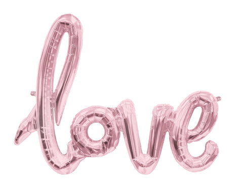 Love Schriftzug Ballon Hochzeit Dekoration Folienballon Schreibschrift Balloon Decoration Foil Scriptballoon rosé gold wedding