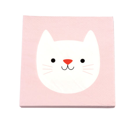 Baby Shower Serviette Katze