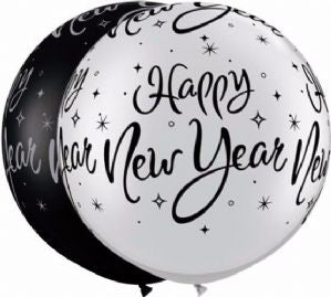 XL Happy New Year Latex Ballon