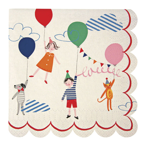 Up Up and Away Party Serviette by Meri Meri