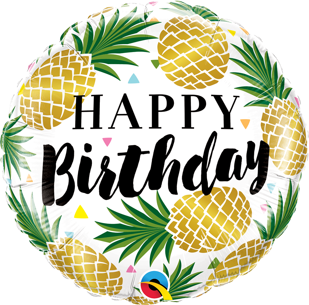 Ananas Happy Birthday Folienballon